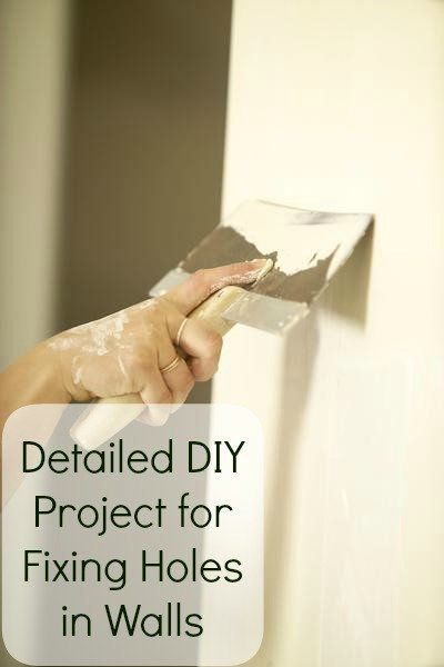 DIY:  Drywall Repair Tutorial - one of the easiest home repairs is to repair holes in drywall.