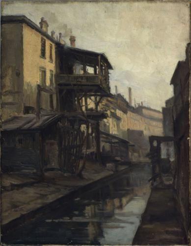 La Bièvre, rue des Cordelières   Paris Musées
