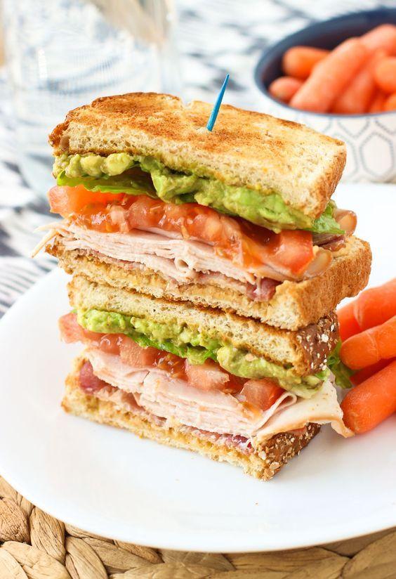 avocado turkey club sandwich sandwich oscarmayernatural sandwiches ...