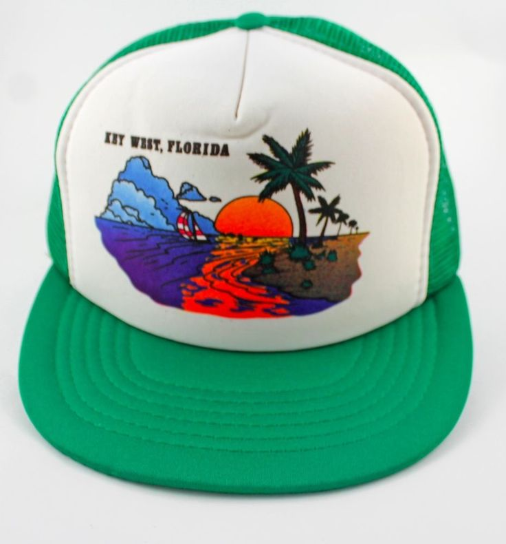 21137a0db34 ... switzerland key west florida trucker hat snapback vintage medium large  designer award cap vintage trucker snap