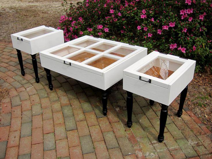 Plantation Design: Sash Window Coffee Table Set: Shadow Boxes with ...