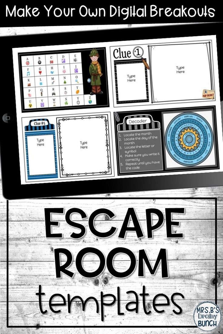 Digital escape room templates middle school ela