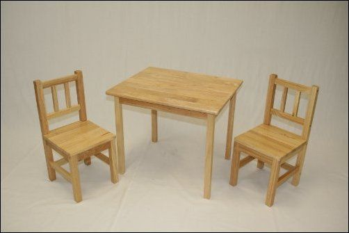 Wooden Table And Chair For Kids