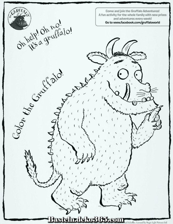 Wohin Willst Du Diesen Warme Jahreszeit Mit Gruffalo Reisen Basteln Mit Kids Gruffelo Kinderfarben Bilderbuch