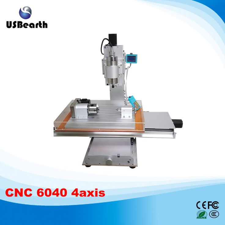 4 axis cnc router 6040 1.5kw cnc milling machine with water tank  , Russia free tax