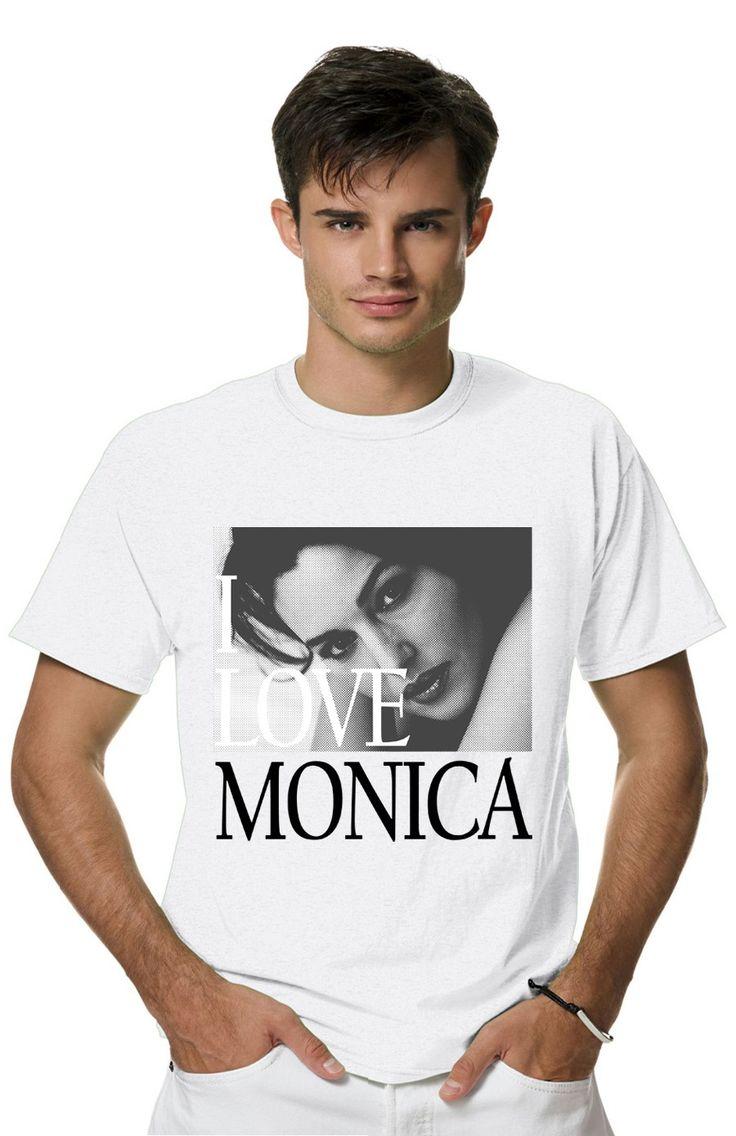 Футболка I LOVE MONICA BELLUCCIиз коллекции PERSONA пропитана настоящим духом свободы и стиля! Мужская футболка с прикольным принтом