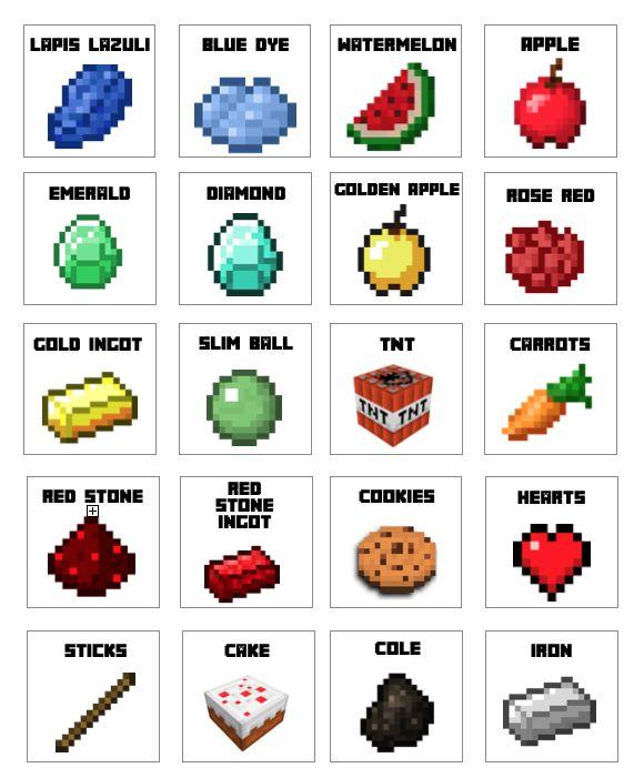 Free Minecraft Candy Bag Pdf Minecraft Birthday