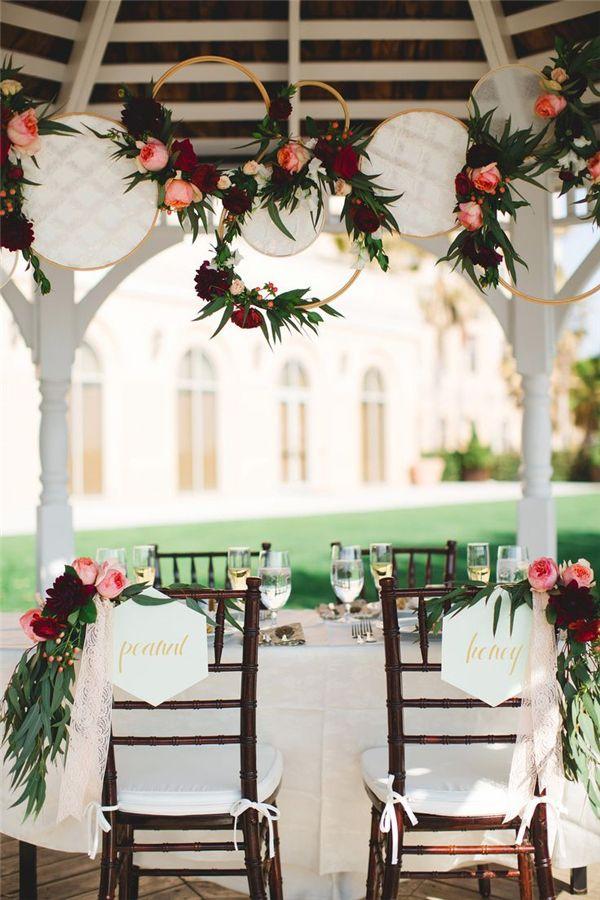 rustic embroidery hood wedding decor ideas