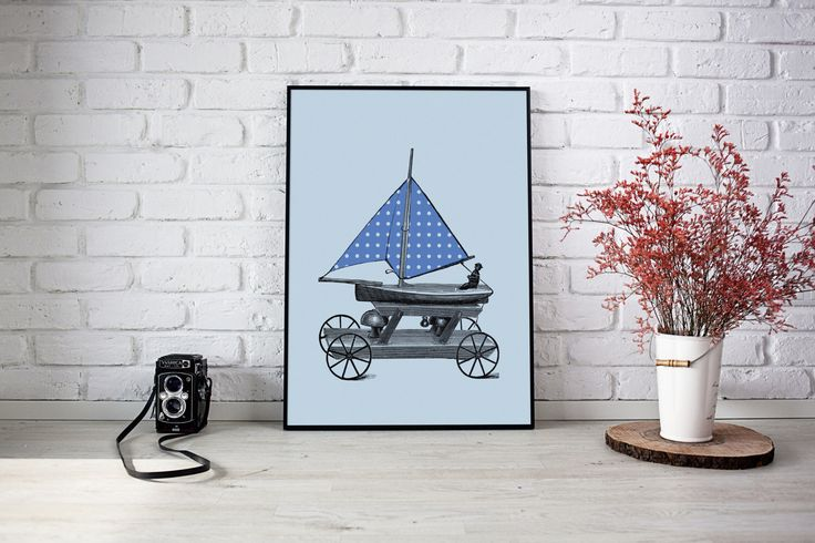 A personal favourite from my Etsy shop https://www.etsy.com/au/listing/501992262/blue-polka-dot-toy-sail-boat-baby-boy