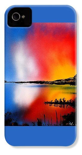 Dawn Twilight IPhone 4 / 4s Case Printed with Fine Art spray painting image Dawn Twilight by Nandor Molnar (When you visit the Shop, change the orientation, background color and image size as you wish)