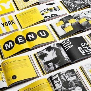 grayscale, yellow, large font, large photo, monotone photo, bi-fold, booklet, brochure set, inside, square format, marketing, design, photography, fine arts, multiple, modern, original, promotional brochure design inspiration