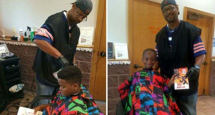 Inspirational Barber Gives Free Haircuts To Kids That Read To Him