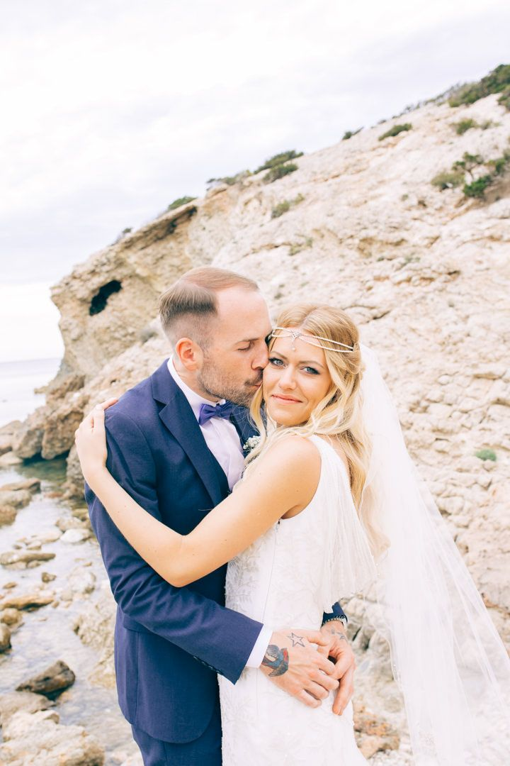 Lauren and Elliot's Vintage Pink and White Ibiza Wedding by Katie Palmer Photography