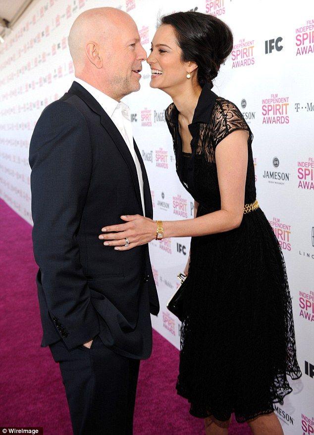Bruce Wills and wife Emma Heming