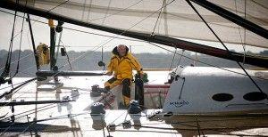Sir Robin takes part in the 2014 Route du Rhum