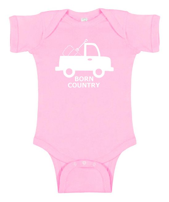 Pink 'Born Country' Truck Bodysuit - Infant