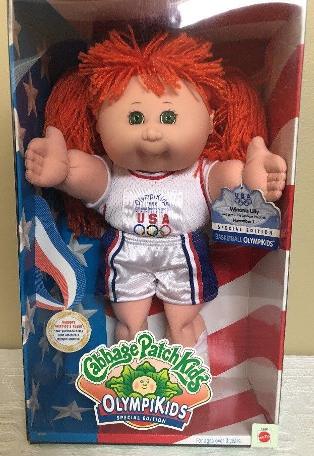 Cabbage Patch Kids Olympikids Special Edition Basketball Doll Red Hair Green Eye 74299145988 Ebay Cabbage Patch Kids Green Hair Red Hair Green Eyes
