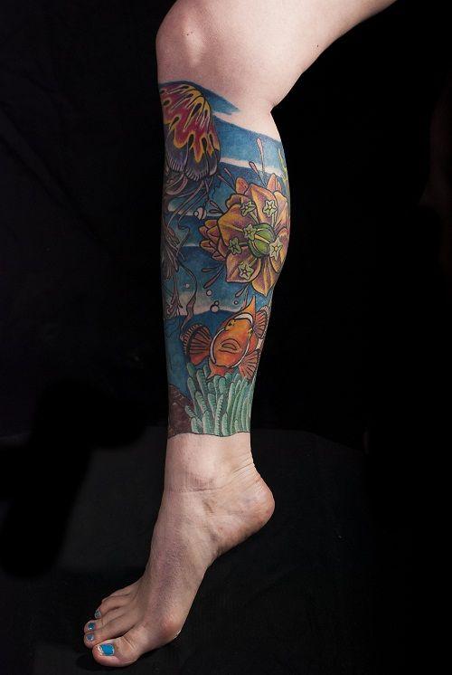 Lower Tattoo Sleeve: 22 Best Female Tattoos Leg Designs Images On Pinterest