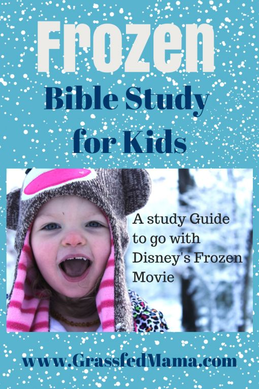 Grassfed Mama Teachable Moments: Frozen Bible Study - pin now-look at later