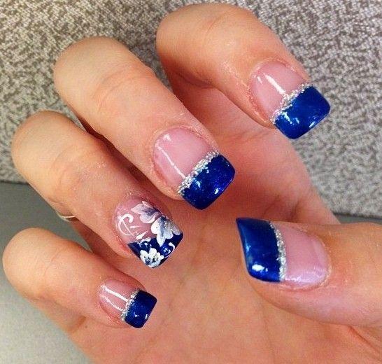 Ideas para pintar uñas color azul - Blue Nails | Decoración de Uñas - Manicura y NailArt