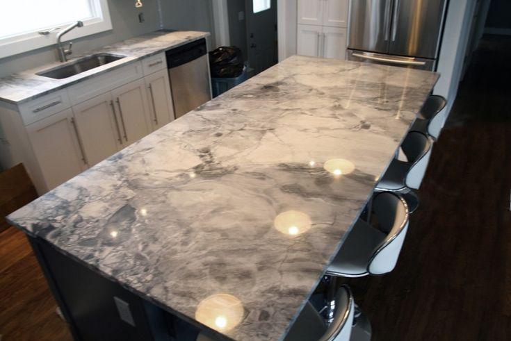 Stunning and Elegant Touch of Marble Kitchen Counter Tops: Cool Marble Kitchen Counter Tops Modern Minimalist Kitchen Interior Laminate Floor ~ pofidik.com Kitchen Designs Inspiration