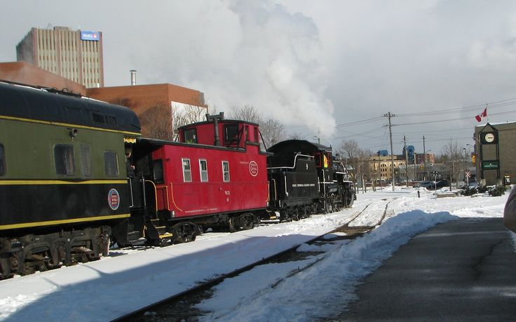 """The """"Family Day Weekend Steam Excursion"""" weekend actually began and ended at Waterloo Square, as the Waterloo Train Station is closed during the winter months.      There will be another run on Monday February 18th (Family Day).  Check out the Waterloo Central Railway website for details"""