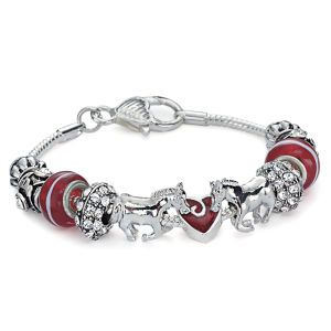 Horses With Heart Charm Bracelet - Horse Themed Gifts, Clothing, Jewelry and Accessories all for Horse Lovers | Back In The Saddle