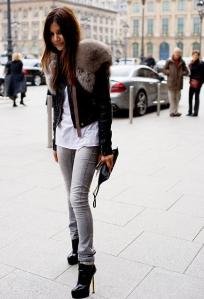 This look is so hot, fur real. Relaxed & Rocking. LOVE