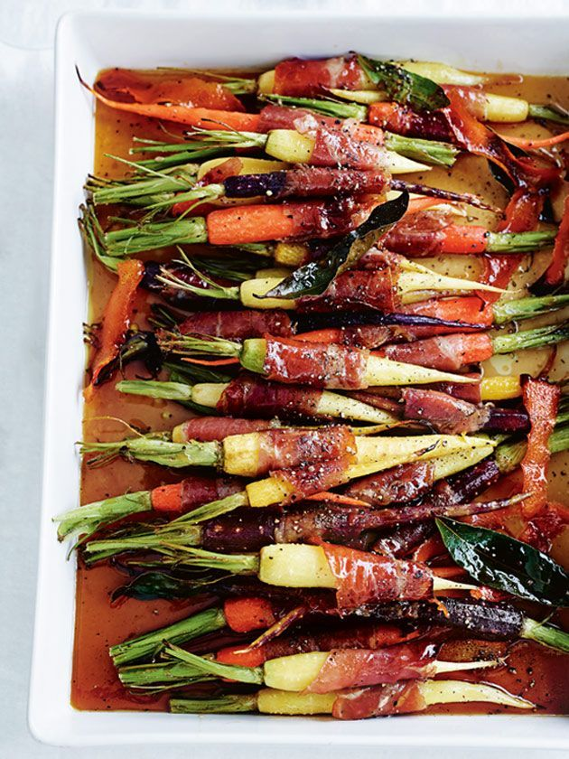 Prosciutto Wrapped Baby Carrots | Donna Hay