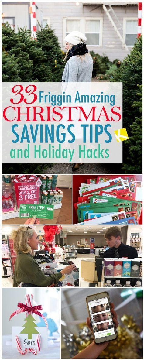 33 Friggin Amazing Christmas Savings Tips and Holiday Hacks