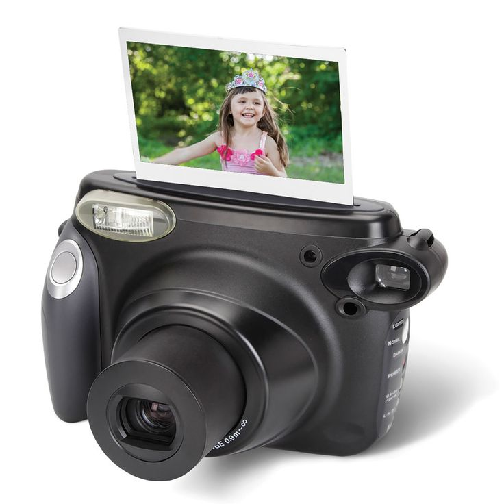 """The Instant Photo Printing Camera - This is the point-and-shoot camera that can print photos by itself. Using a self-developing high-speed film, the camera produces a vibrant, scrapbook-worthy 2 1/2"""" H x 3 3/4"""" W color print in only 20 seconds."""