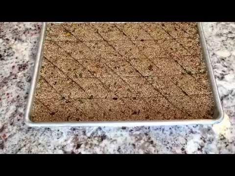سمسميه بالفستق والجوز من مطبخي Sesame Bars .......... Linda S kitchen - YouTube