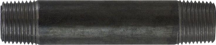 57076 | Midland | 1/2 X 12 BLACK STEEL NIPPLE | Nipples and Fittings | Black And Galvanized Schedule 40 | Black Steel Nipple 1/2 Diameter