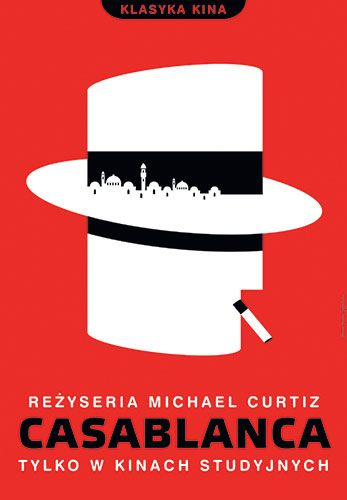 Amazing Polish film poster for Casablanca