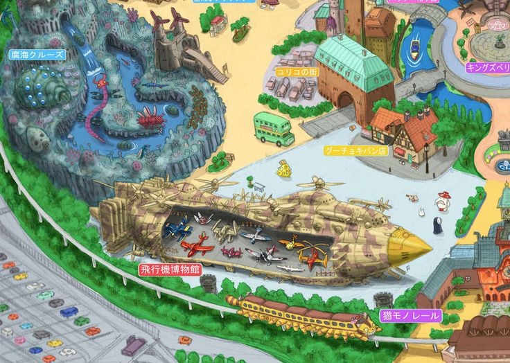 Catbus Monorail did you say? *reaches for credit card* A graphic artist has detailed plan for a theme park based on Studio Ghibli.