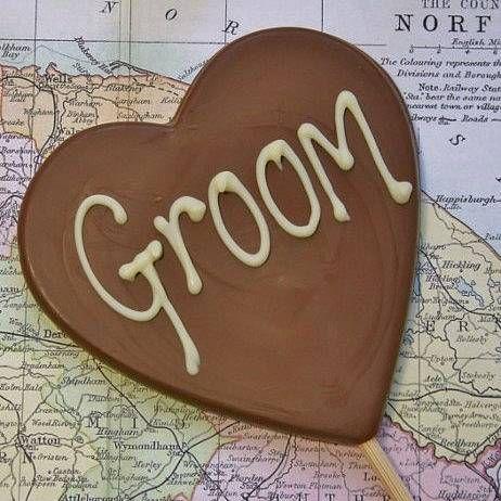 'groom' handmade chocolate lolly by the chocolate deli | notonthehighstreet.com