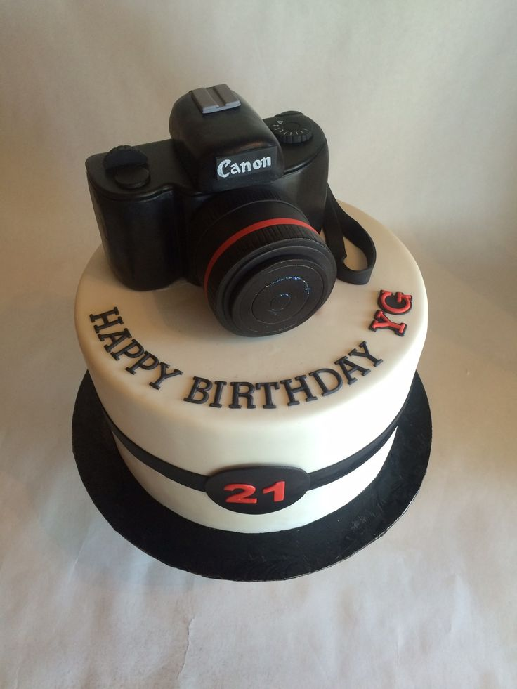 Custom Cake | Birthday Cake | Custom Topper | Canon | Camera | fondant