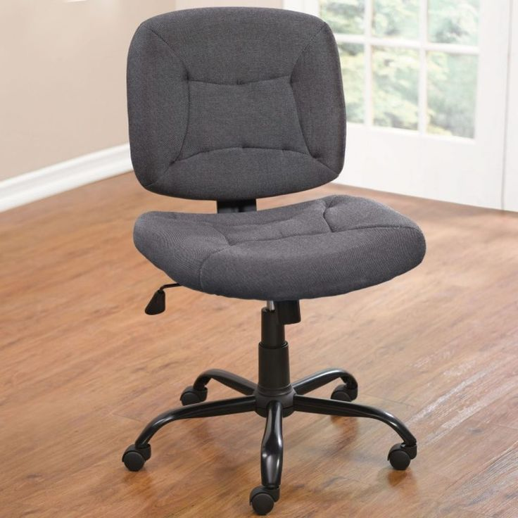 Upholstered Desk Chair With WheelsPorthos Home Raines Adjustable