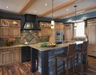 Love the island and the hood.  Comes with an article with good ideas for a farmhouse kitchen design.