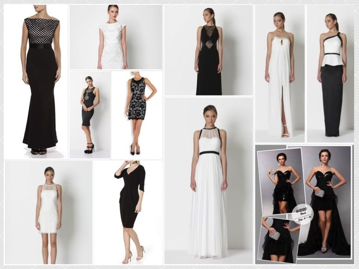 Classic Black and/or White dresses for your special occasion. www.itsyourmoment.com