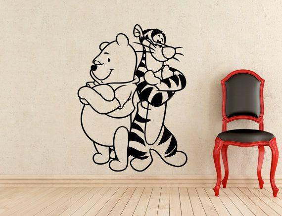 Winnie The Pooh autoadesivo della parete Pooh Bear Tigger Cartoon vinile adesivi casa interni bambini ragazza ragazzo camera vivaio arte decorazione murale (405z)