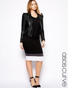 "ASOS CURVE Exclusive Pencil Skirt In Colourblock found at ""ASOS CURVE"""
