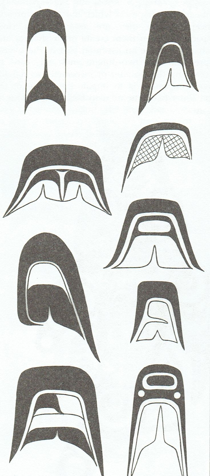 More detailed Split U design elements used in Westcoast Native Art.