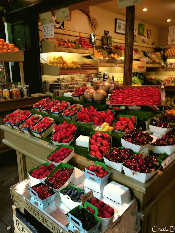 Sometimes you come across a little place that is different and has lots of yummy things to sell. This market in Paris has the most beautiful , fresh and tasty berries on display. You can't he…