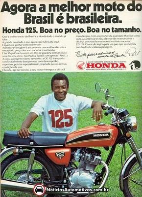 Anuncio de moto Honda com Pele