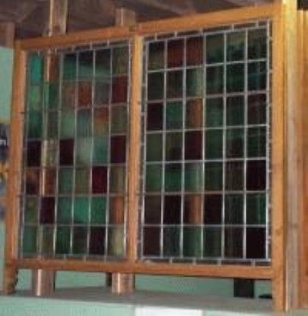stained glass sash windows | stained glass sash window stripped and polished stained glass sash ...