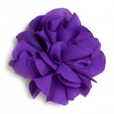 Flor de tela Púrpura.
