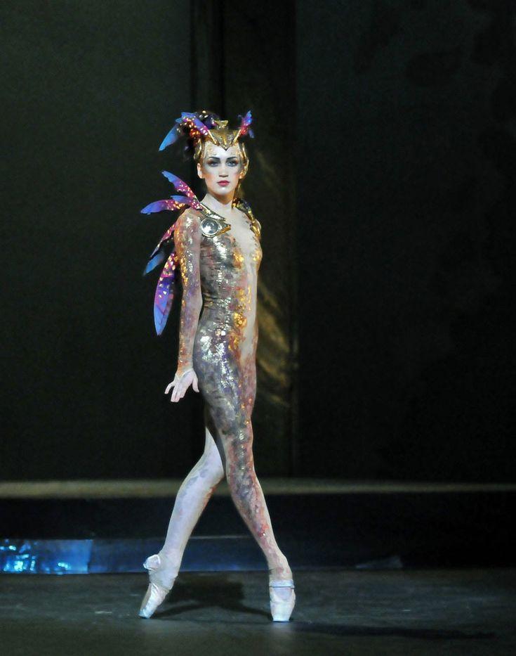 "English National Ballet, Ksenia Ovsyanick in George Williamson's ""The Firebird"" (Photo: Dave Morgan)"