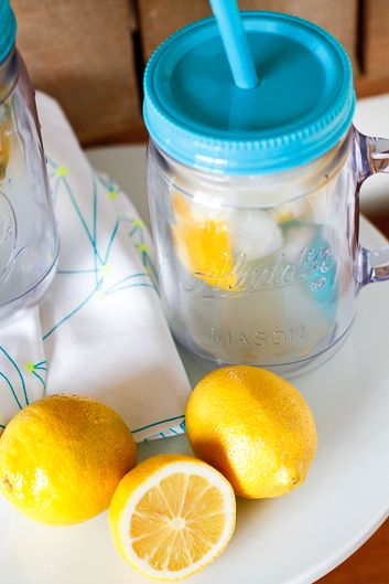 Lemon Shake Ups~ So fresh and tasty!!! did it in a quart jar and made it more like a lemon water with raw sugar, comes out so flavorful with the addition of the rind pieces