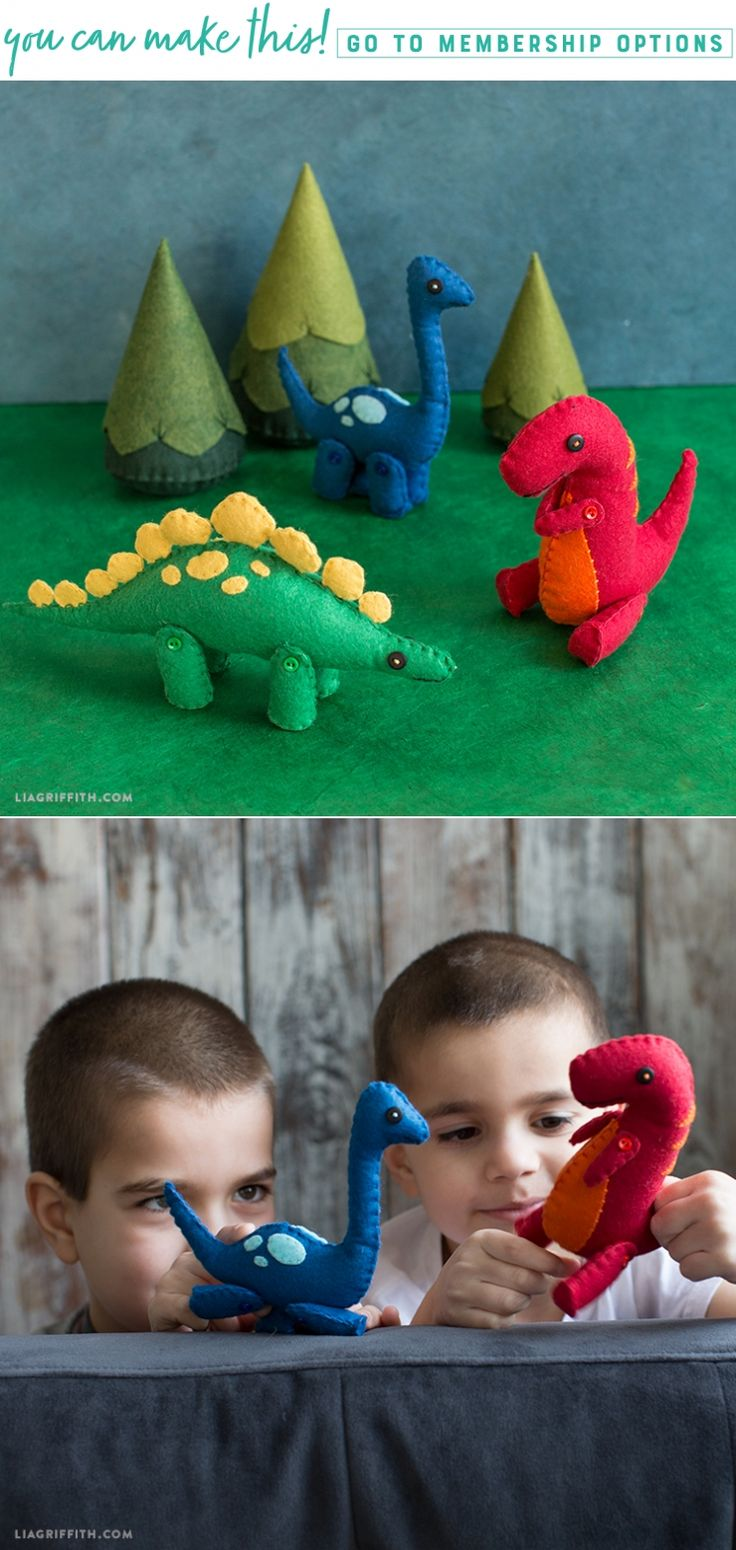 Prehistoric Pals ❤️ Don't let your creativity go extinct! Sit down and have a ball making this felt dinosaur trio. We've included patterns for a Long-neck, T-Rex, and Stegosaurus so you can craft your own Jurassic park pals. https://liagriffith.com/felt-dinosaurs/ * * * #dinosaursrule #dinosaurier #diy #diycraft #diycraft #diyidea #diyideas #felt #feltart #stuffie #stuffies #stuffedanimal #diyproject #diykids #kids #kidscraft #kidscrafts #sew #sewhappy #diyinspiration #feltcraft #feltcrafts…